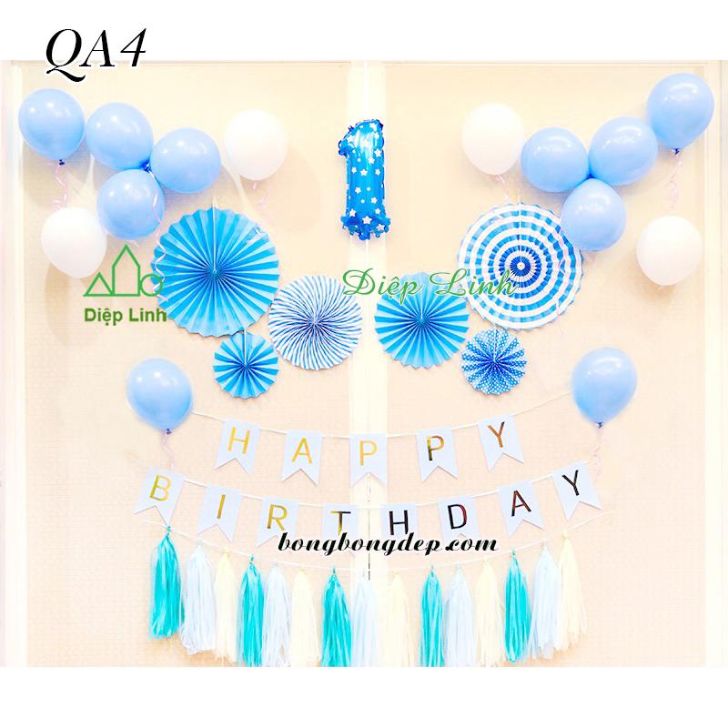 Sét trang trí quạt giấy QA4