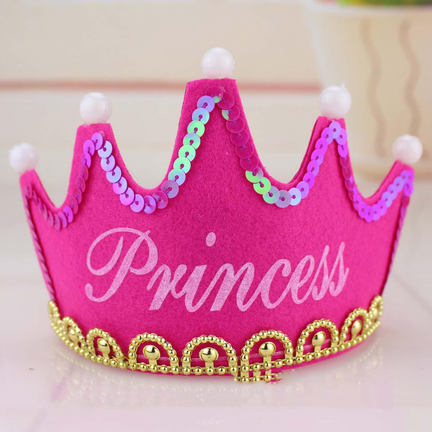 Nón sinh nhật phát sáng tiệc màu hồng Princess