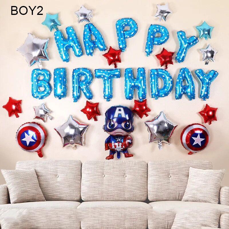 Sét bong bóng sinh nhật dành cho Bé Trai Siêu Nhân BOY2