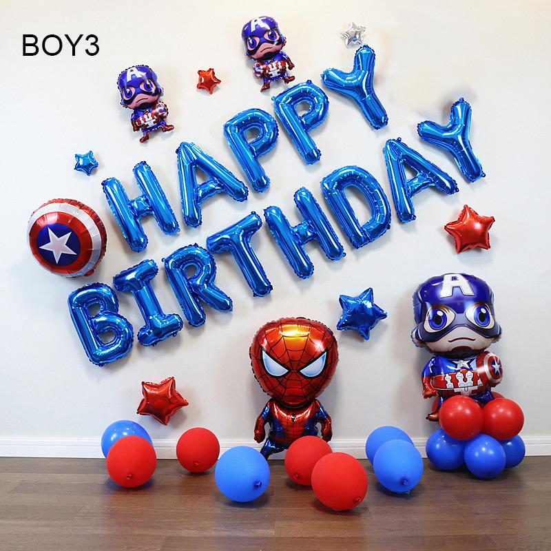 Sét bong bóng sinh nhật dành cho Bé Trai Siêu Nhân BOY3