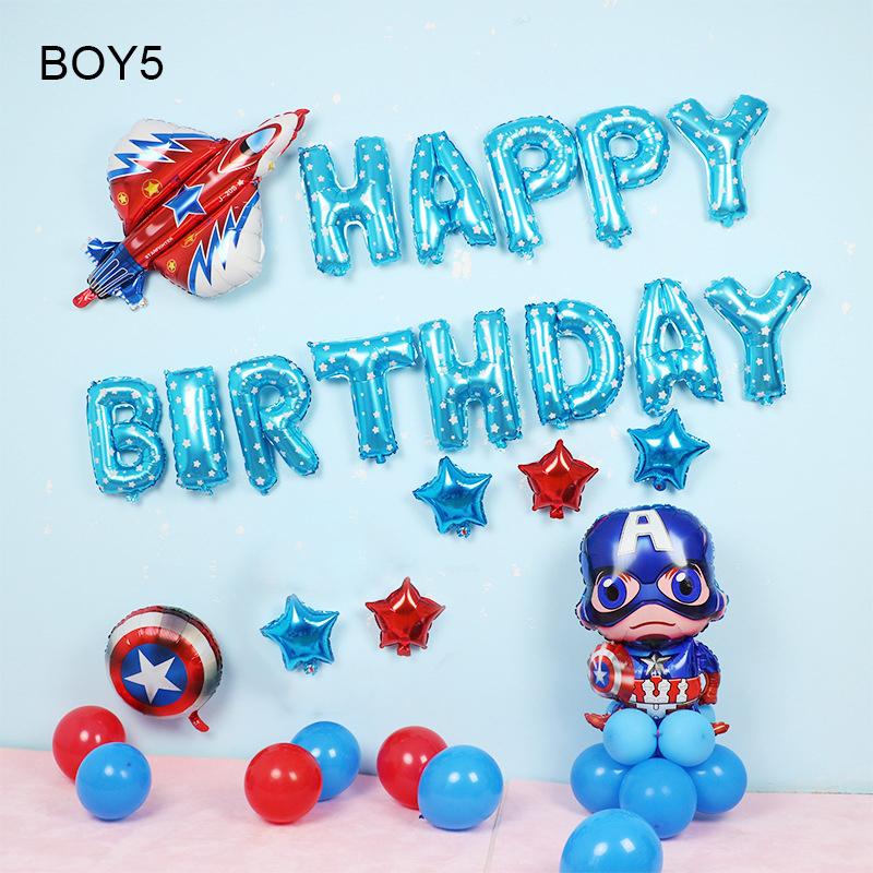 Sét bong bóng sinh nhật dành cho Bé Trai Siêu Nhân BOY5