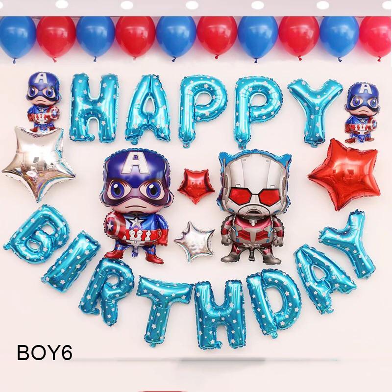 Sét bong bóng sinh nhật dành cho Bé Trai Siêu Nhân BOY6