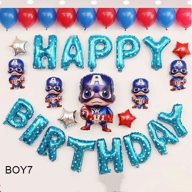 Sét bong bóng sinh nhật dành cho Bé Trai Siêu Nhân BOY7