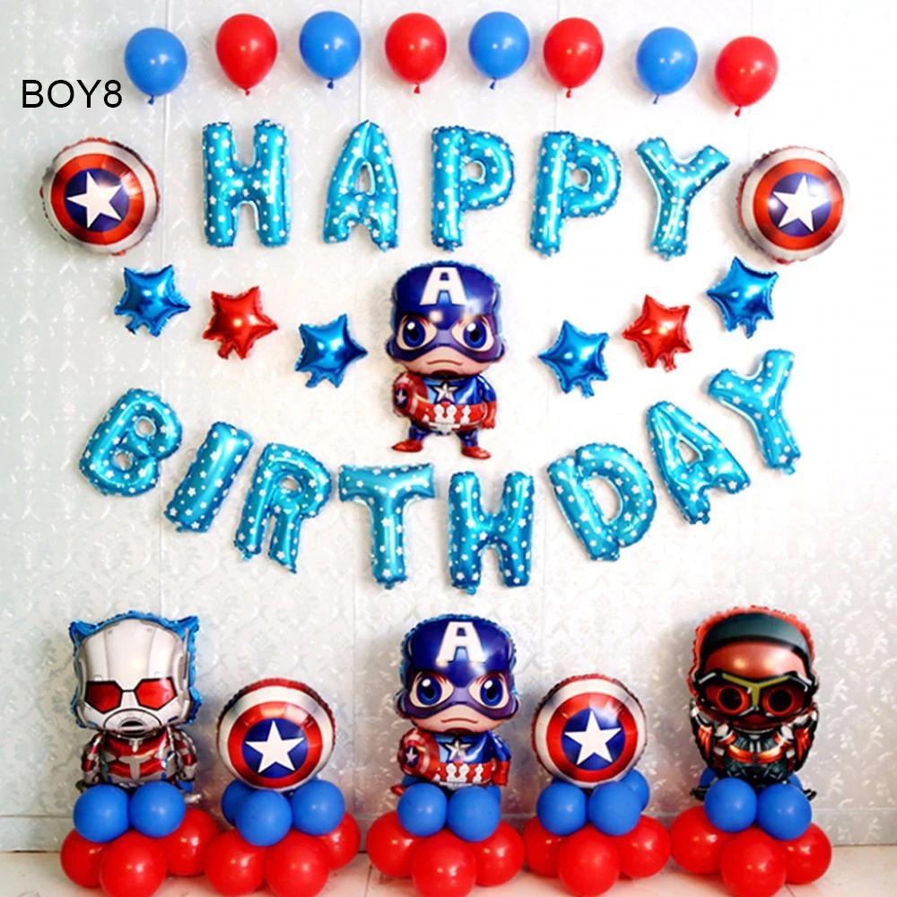 Sét bong bóng sinh nhật dành cho Bé Trai Siêu Nhân BOY8