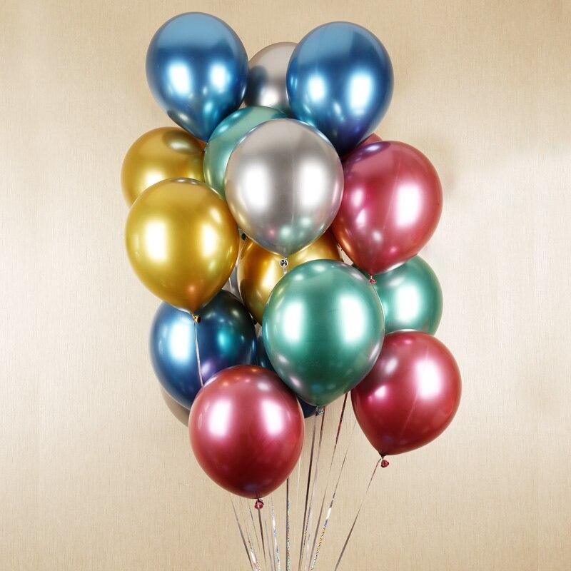 10 Bong Bóng Siêu Nhũ Mạ Chrome 10inch- Bóng siêu nhũ đẹp-Bóng siêu nhũ Nhiều Màu 30cm