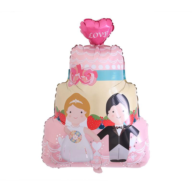 Bong bóng kiếng tráng nhôm trang trí bánh cưới