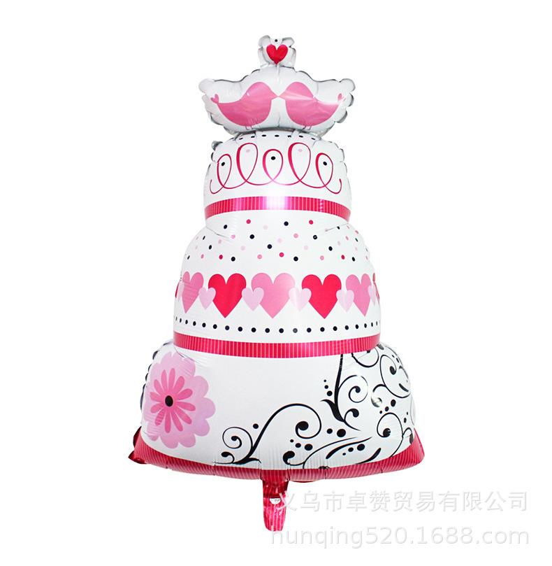 Bong bóng kiếng tráng nhôm trang trí bánh sinh nhật kiểu