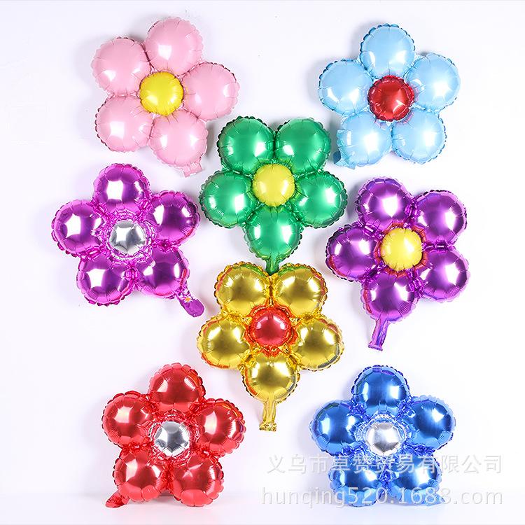 Bong bóng kiếng tráng nhôm trang trí bông hoa