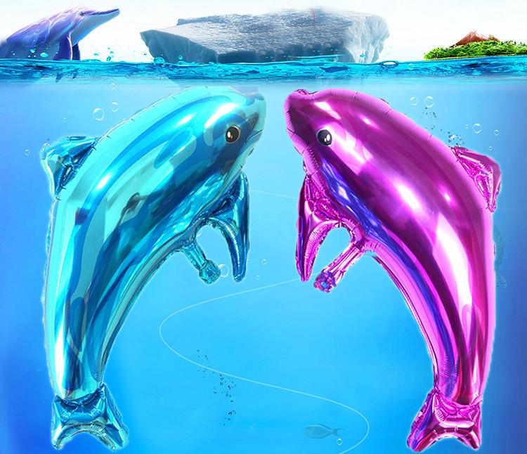 Bong bóng kiếng tráng nhôm trang trí cá heo