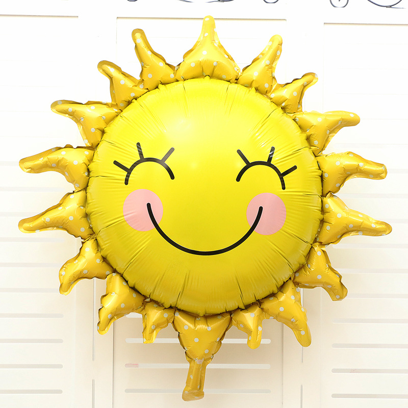 Bong bóng kiếng tráng nhôm trang trí hình mặt trời