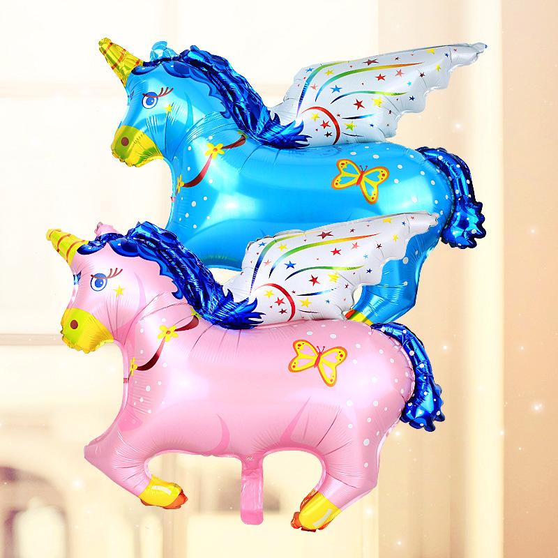Bong bóng kiếng tráng nhôm trang trí ngựa có cánh