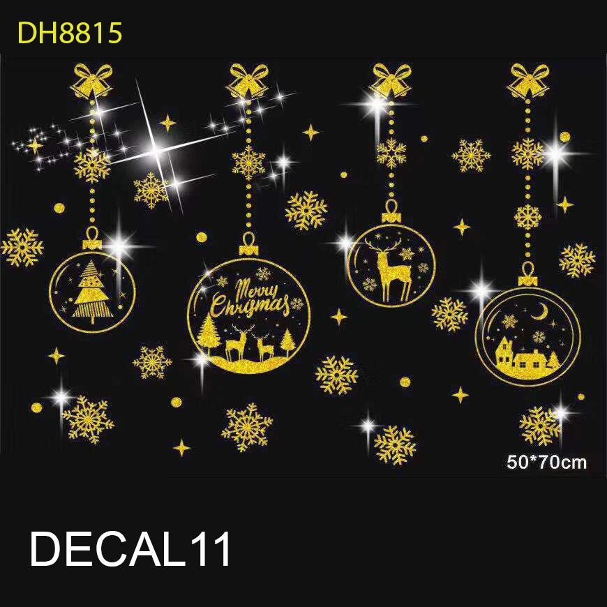 Tấm Decal Trong Dán Tường Kính Trang Trí Chủ Đề Noel Giáng Sinh Merry Christmas 11
