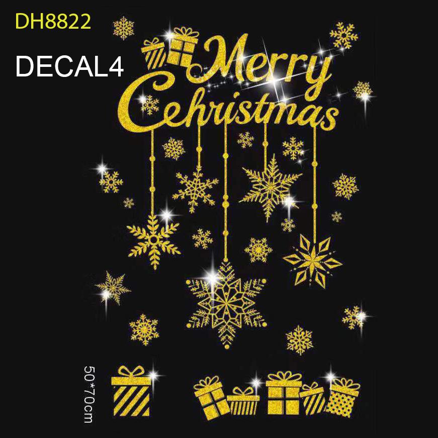 Tấm Decal Trong Dán Tường Kính Trang Trí Chủ Đề Noel Giáng Sinh Merry Christmas 4