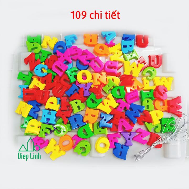 Bộ đồ chơi chữ cái rèn luyện trí tuệ 109 chi tiết - Diệp Linh
