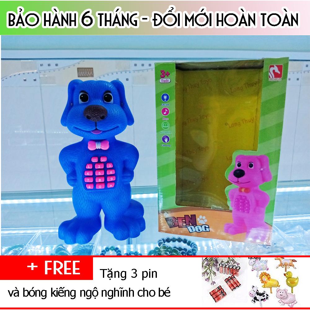Chú Chó Ben Thông Minh Biết Nói Xanh Dương
