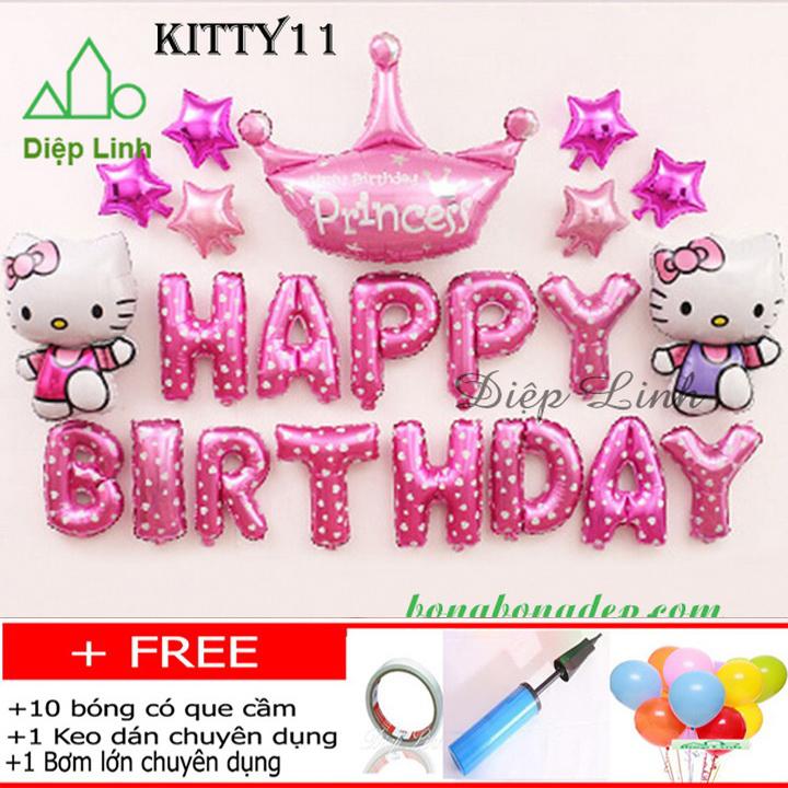 Set bong bóng trang trí sinh nhật chủ đề KITTY11