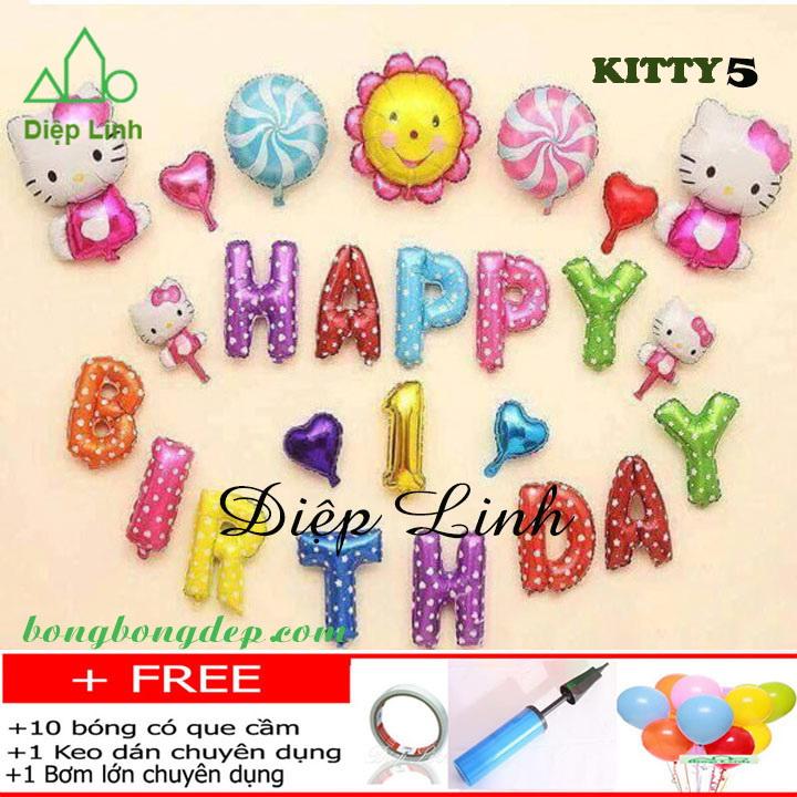 Set bong bóng trang trí sinh nhật chủ đề KITTY5