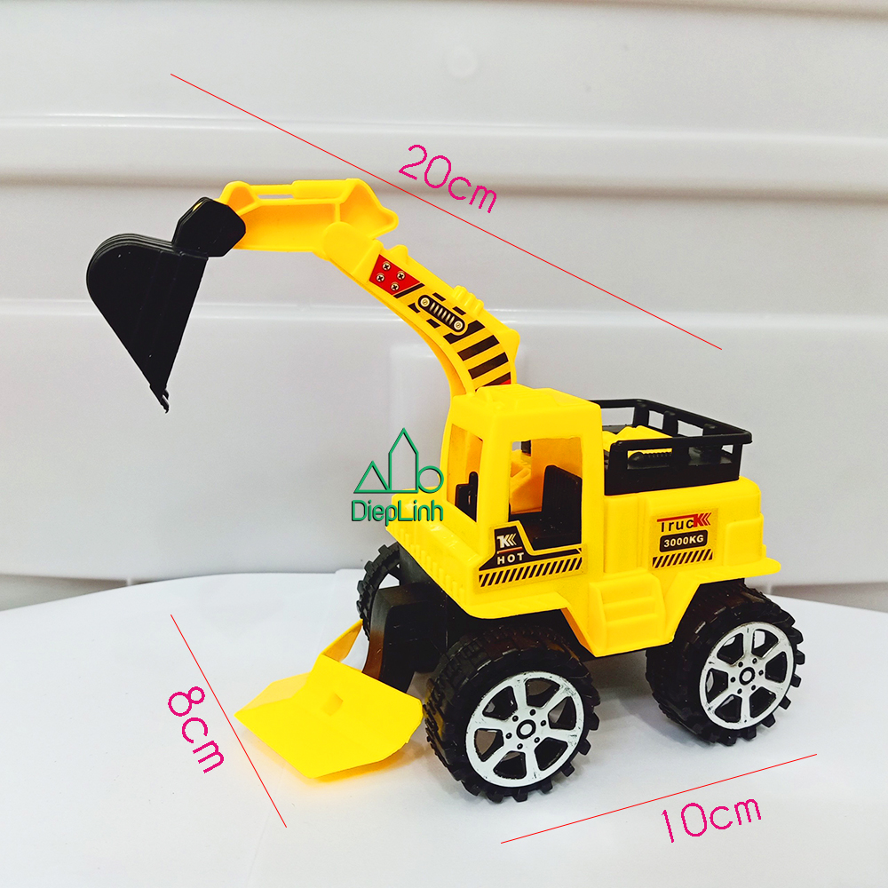 Xe mô hình đồ chơi xe xây dựng xe xúc vàng