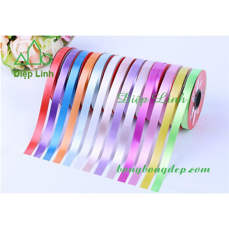 1,2CM X 25M dây ruy băng nhựa nhiều màu trang trí bóng