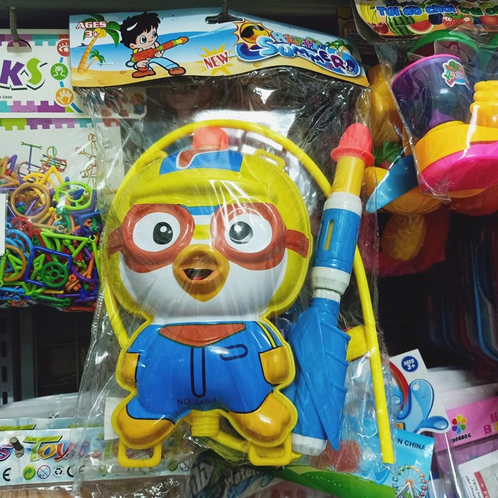 Balo súng nước đồ chơi hình Cánh Cụt Pororo