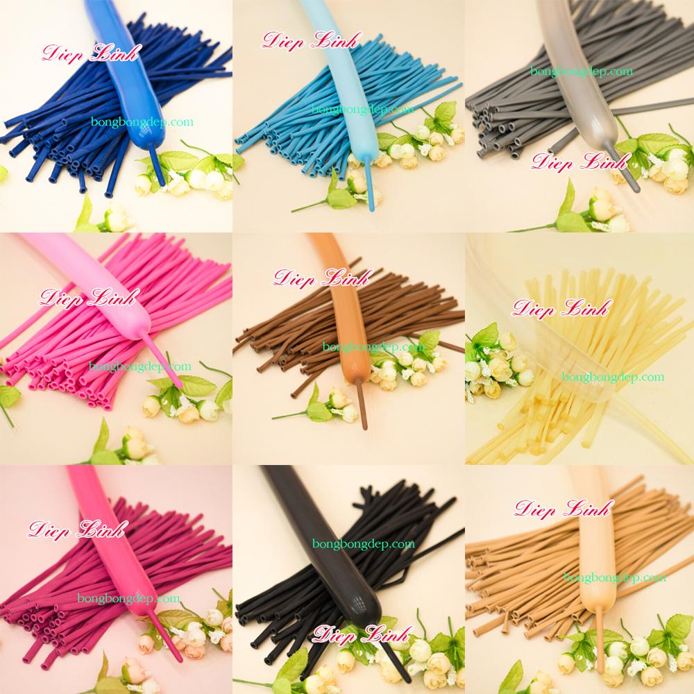 Bộ 100 Bong Bóng Dài Nghệ Thuật Nhiều Màu 31cm