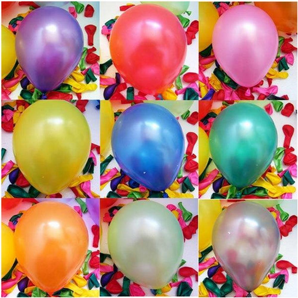 Bộ 100 bóng tròn nhũ Thái Lan nhiều màu loại nhỏ 6 inch