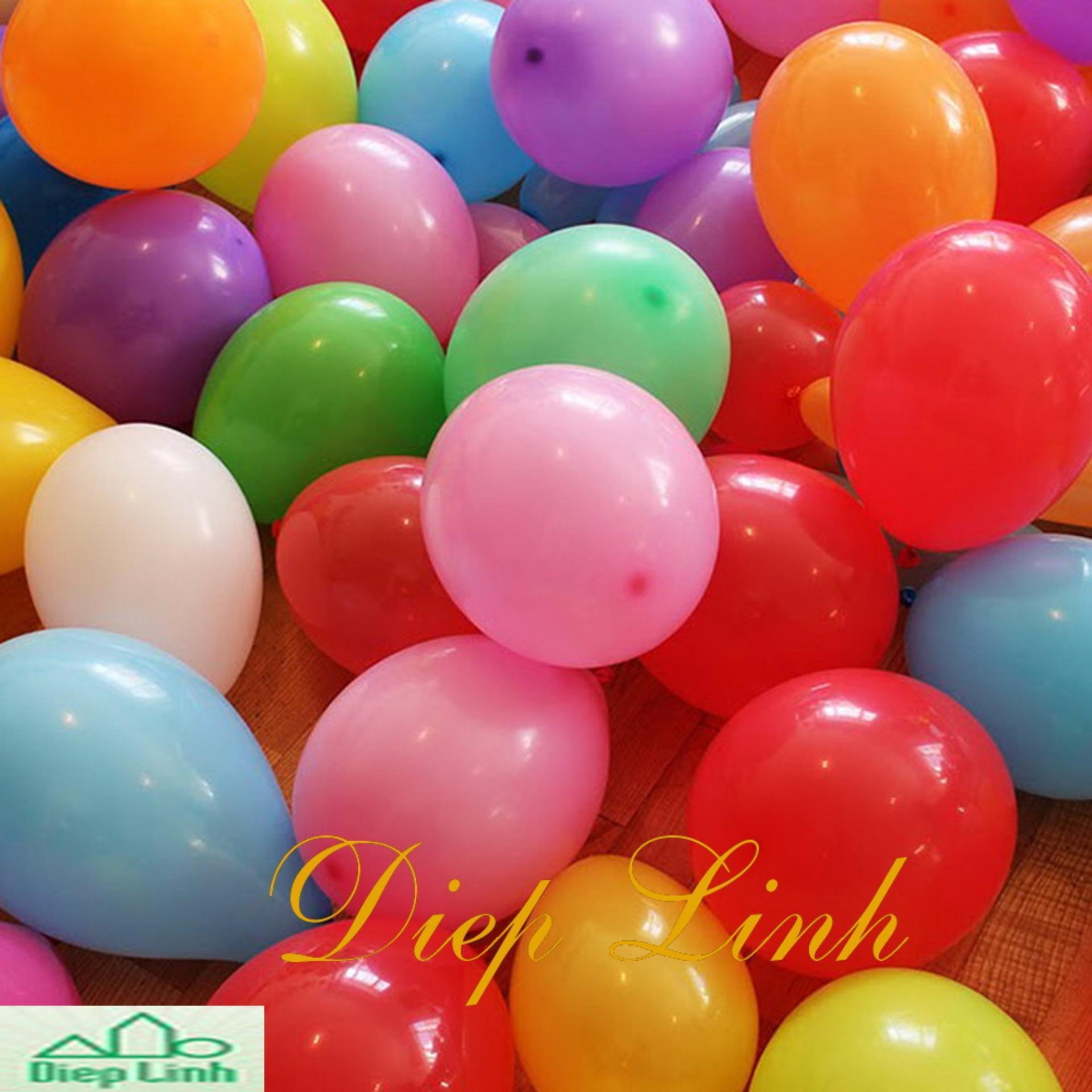 Bộ 100 bóng tròn Thái Lan nhiều màu loại nhỏ 6 inch