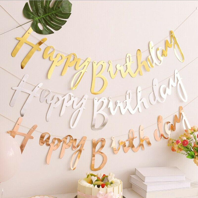Dây treo trang trí chữ Happy Birthday