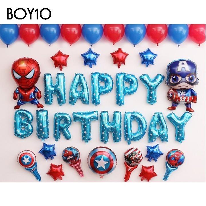 Sét bong bóng sinh nhật dành cho Bé Trai Siêu Nhân BOY10