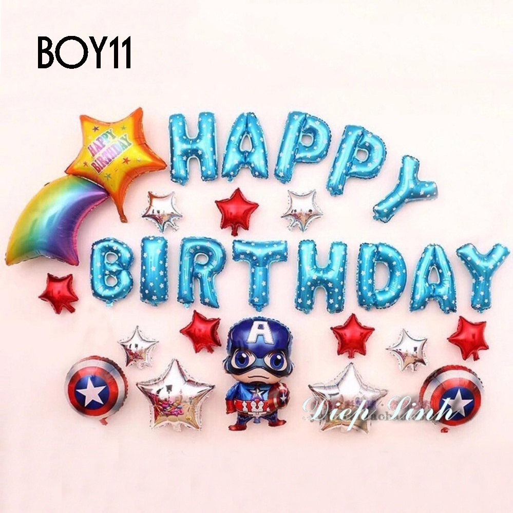 Sét bong bóng sinh nhật dành cho Bé Trai Siêu Nhân BOY11
