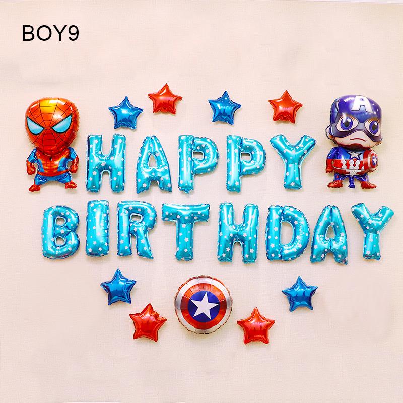 Sét bong bóng sinh nhật dành cho Bé Trai Siêu Nhân BOY9