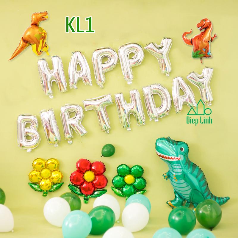 Sét bóng trang trí khủng long KL1