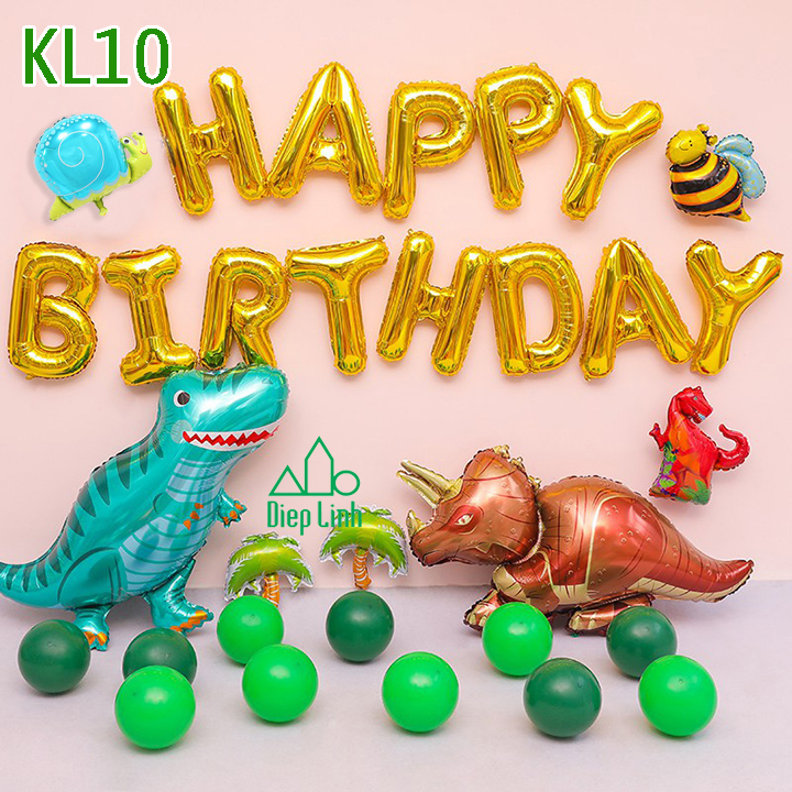 Sét bóng trang trí khủng long KL10