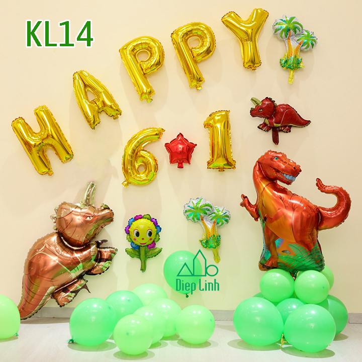 Sét bóng trang trí khủng long KL14
