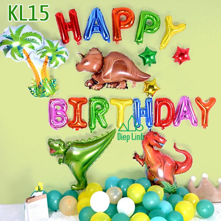 Sét bóng trang trí khủng long KL15