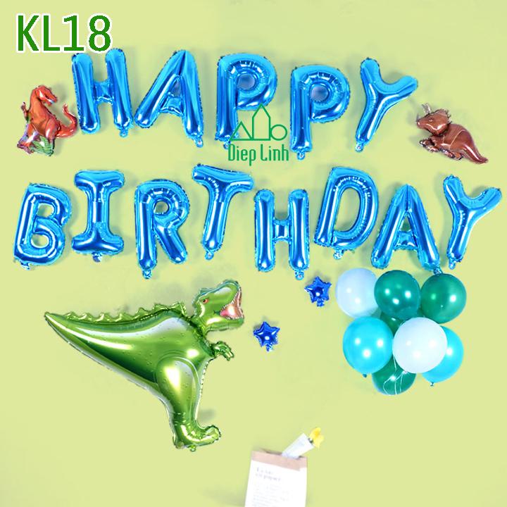 Sét bóng trang trí khủng long KL18