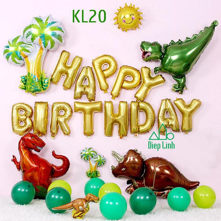 Sét bóng trang trí khủng long KL20