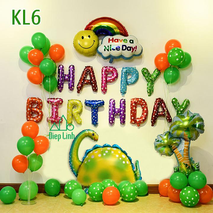 Sét bóng trang trí khủng long KL6