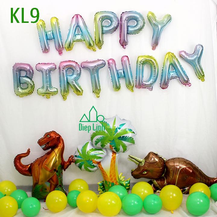 Sét bóng trang trí khủng long KL9