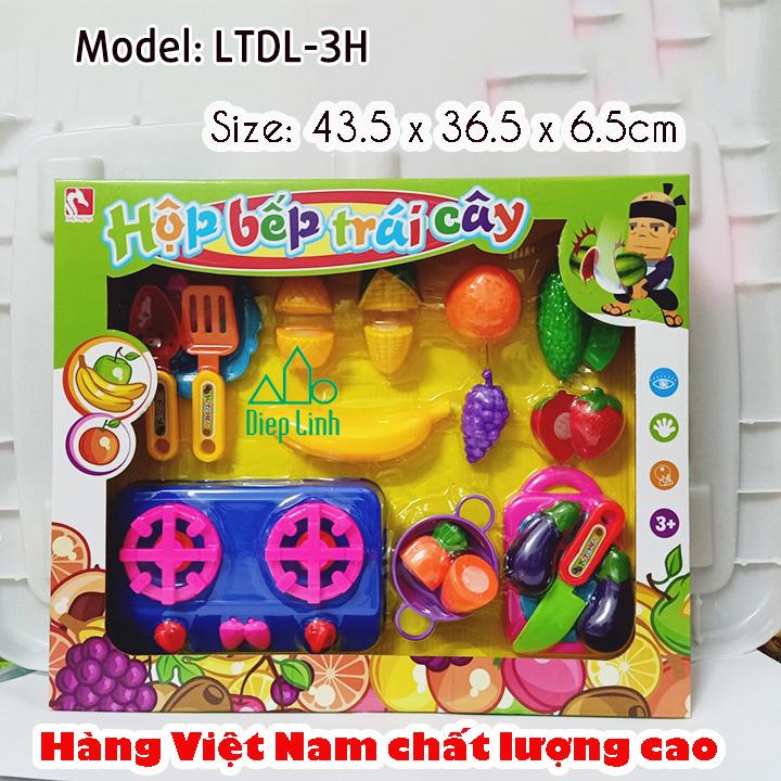 Hộp đồ chơi nhà bếp cắt trái cây cho bé LTDL-3H