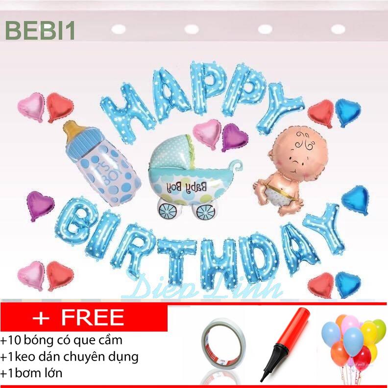 Sét bóng sinh nhật thôi nôi đầy tháng BEBI1