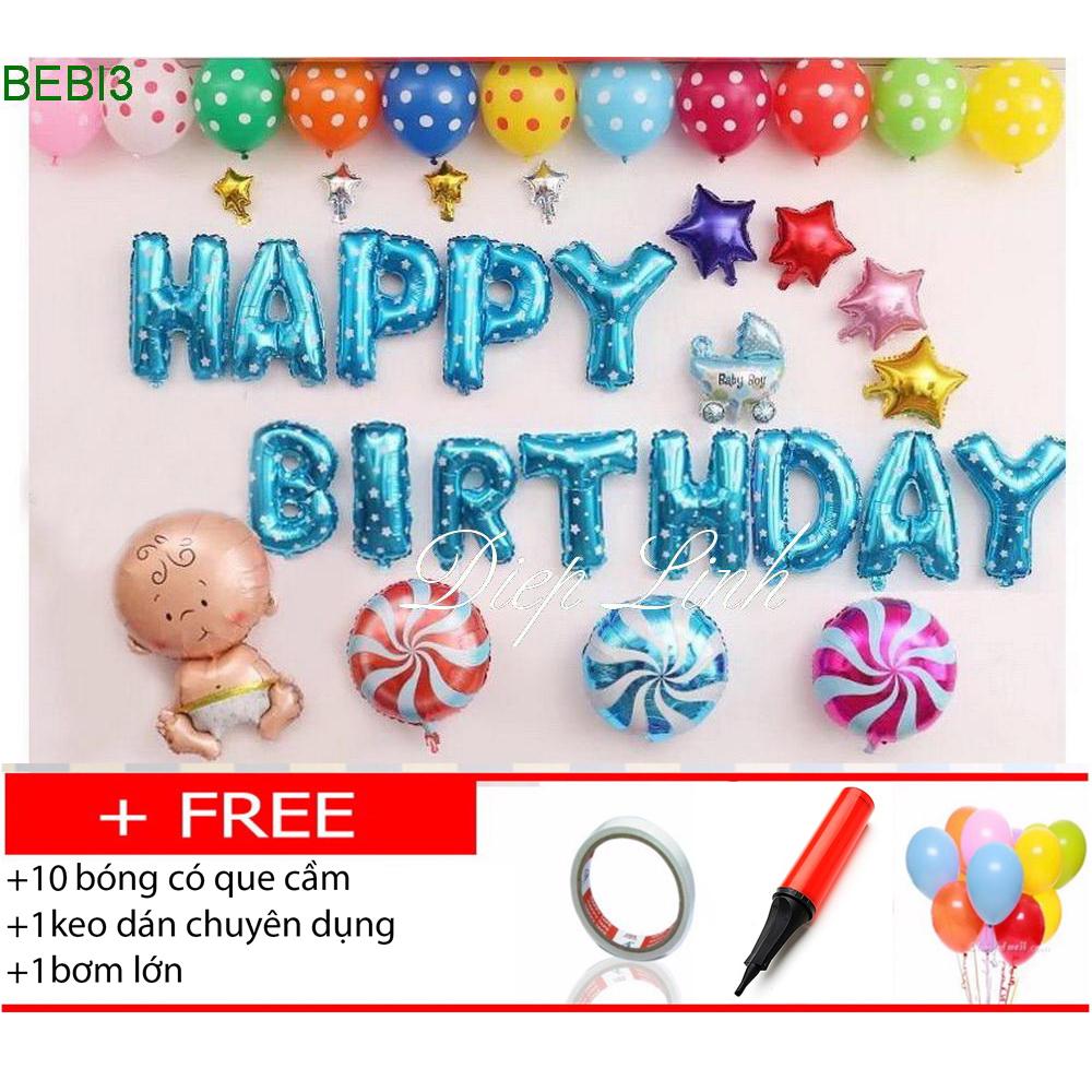 Sét bóng sinh nhật thôi nôi đầy tháng BEBI3