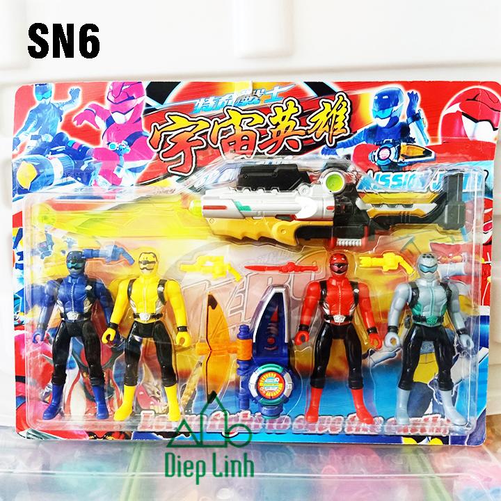 Vỉ đồ chơi siêu nhân cho bé SN6