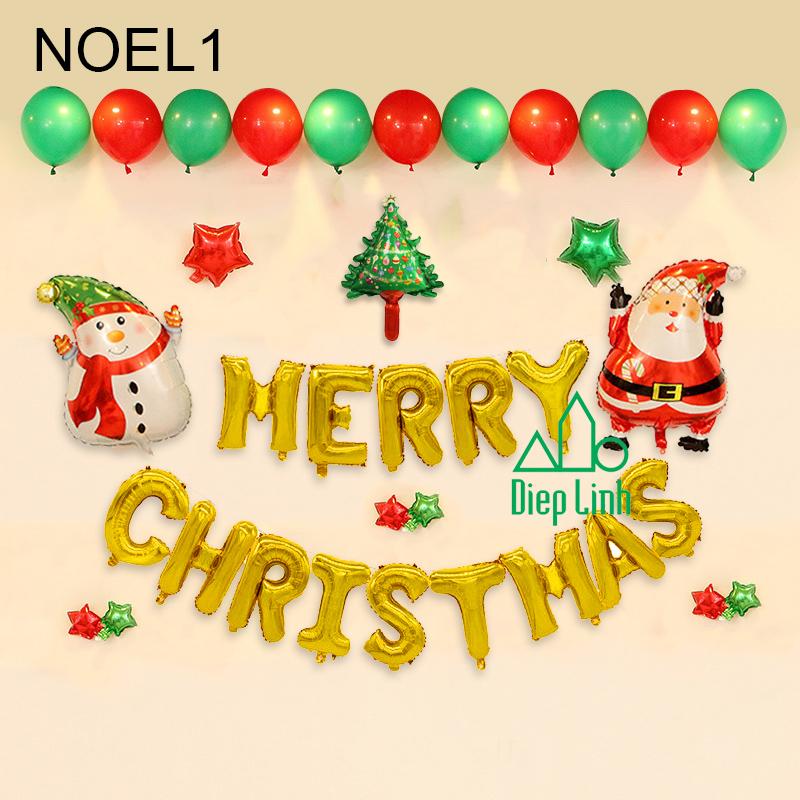 Sét Phụ Kiện Trang Trí Chủ Đề Noel1