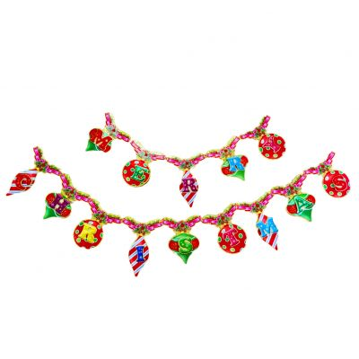 Dây treo trang trí Merry Christmas nhiều màu kim tuyến