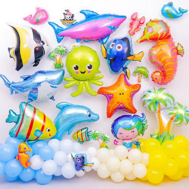 Bóng kiếng sinh vật biển trang trí đồ chơi cho bé