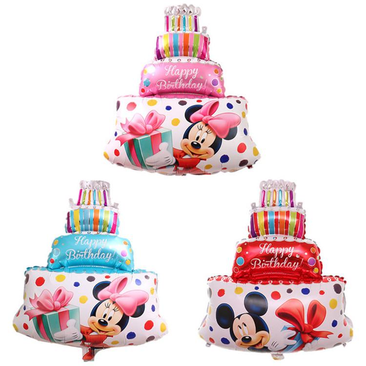 Bong bóng kiếng tráng nhôm trang trí bánh kem Mickey