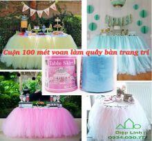 Cuộn vải voan váy bàn 10CM X 1000CM