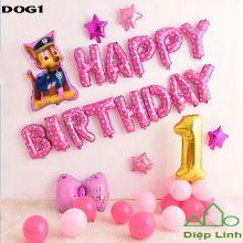 Sét Bóng sinh nhật Cún Chó Cứu hộ DOG1