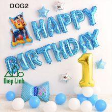 Sét Bóng sinh nhật Cún Chó Cứu hộ DOG2